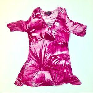 Karen Kane pink blouse size small